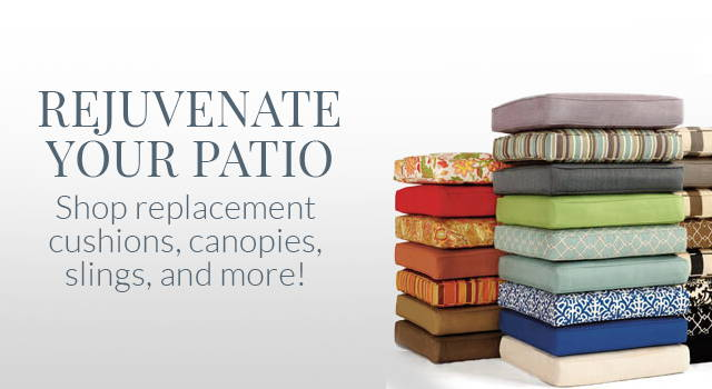 Need an outdoor refresh? Shop cushions, canopies, slings, and more!