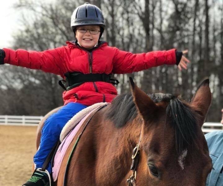 Therapeutic riding at Shining Hope Farms