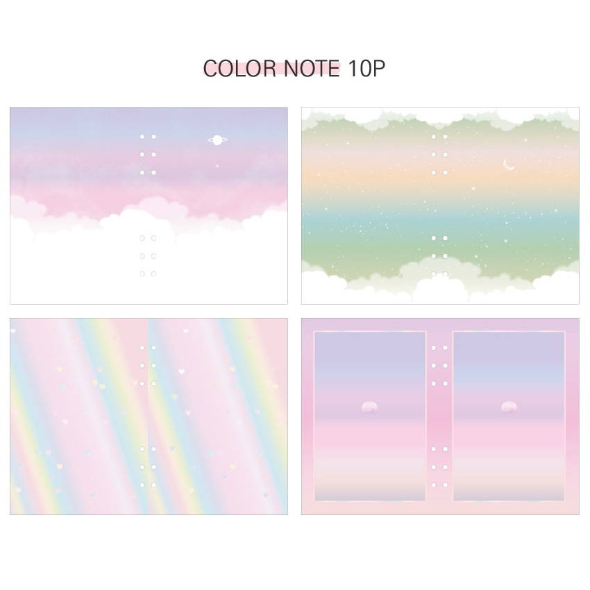Color note - Second Mansion Piece of You A5 6-ring dateless weekly diary