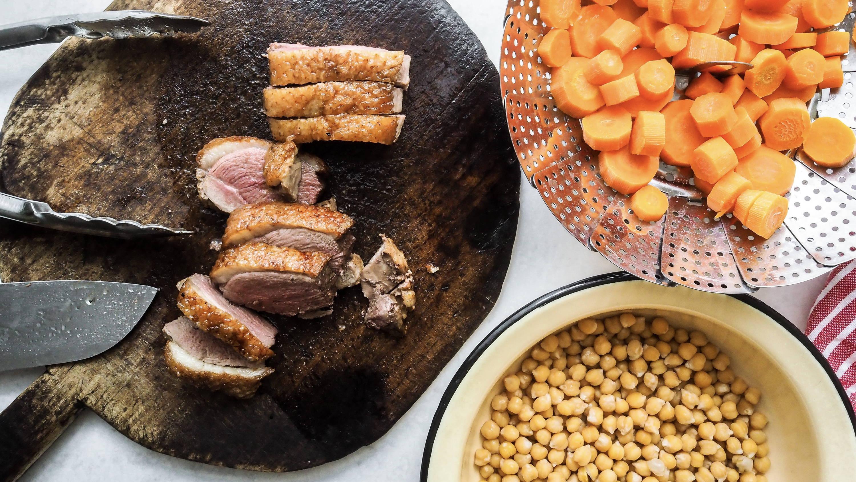 ingredients homemade dog food grain free duck chickpeas carrots