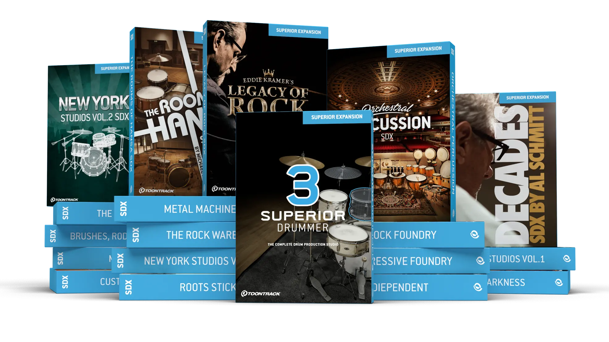 Superior Drummer 3 & SDX Expansions Family