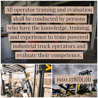 OSHA Forklift Train the Trainer Requirements