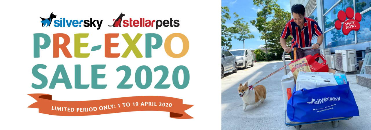 Pet Expo sales by silversky and stellar pets.