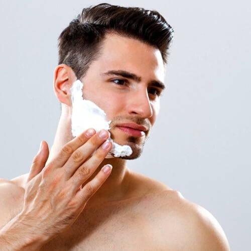 Shaving Using a Shaving Cream