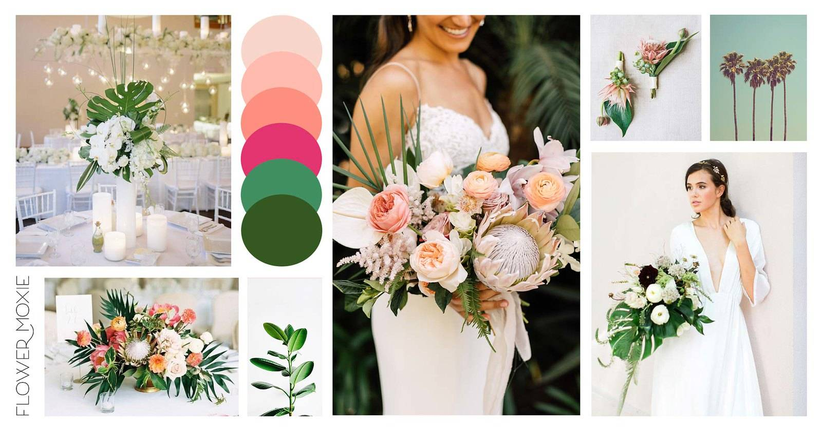 Tropical Wedding Flower Packages Pinterest Style Mood Boards Flower Moxie