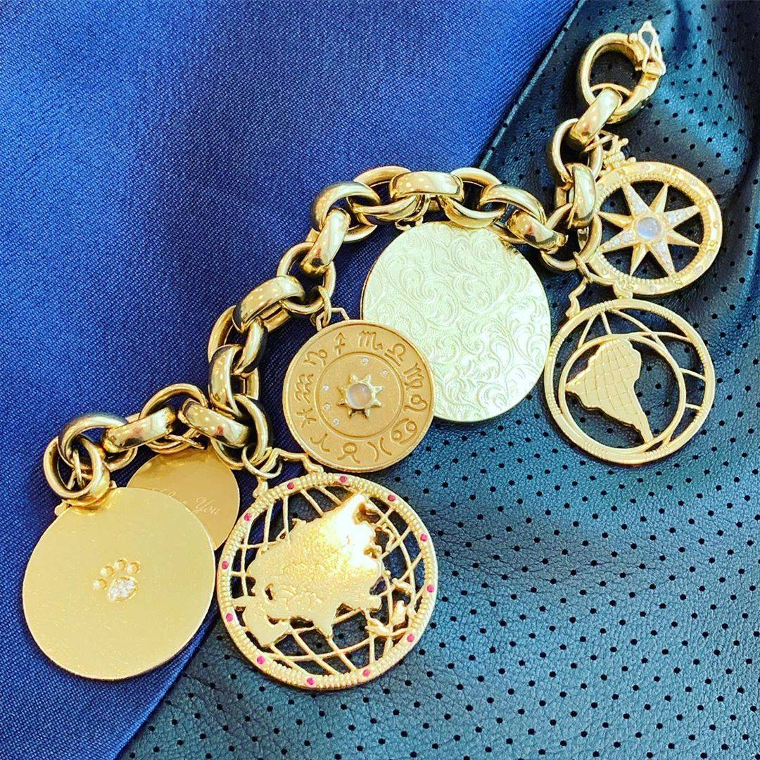Monica's custom charm bracelet