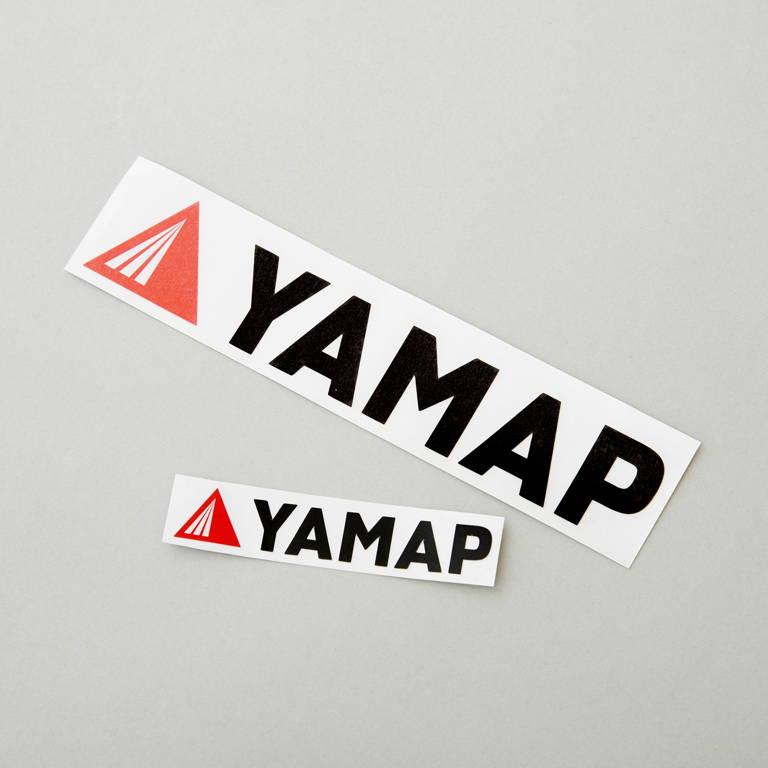 YAMAP(ヤマップ)/オリジナルカッティングステッカー(大)/ブラック