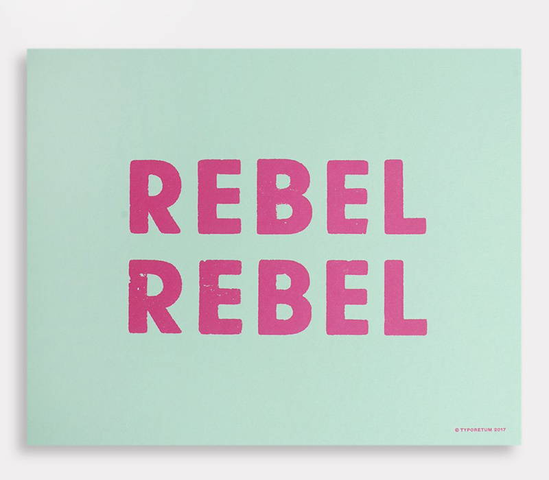 Product photograph of a 8x10 print 'Rebel Rebel'