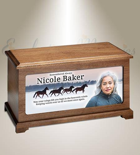 Wild Horses Personalized Photo Funeral Urn