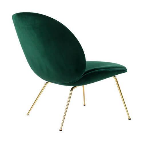 Gubi Beetle Velvet Lounge Chair