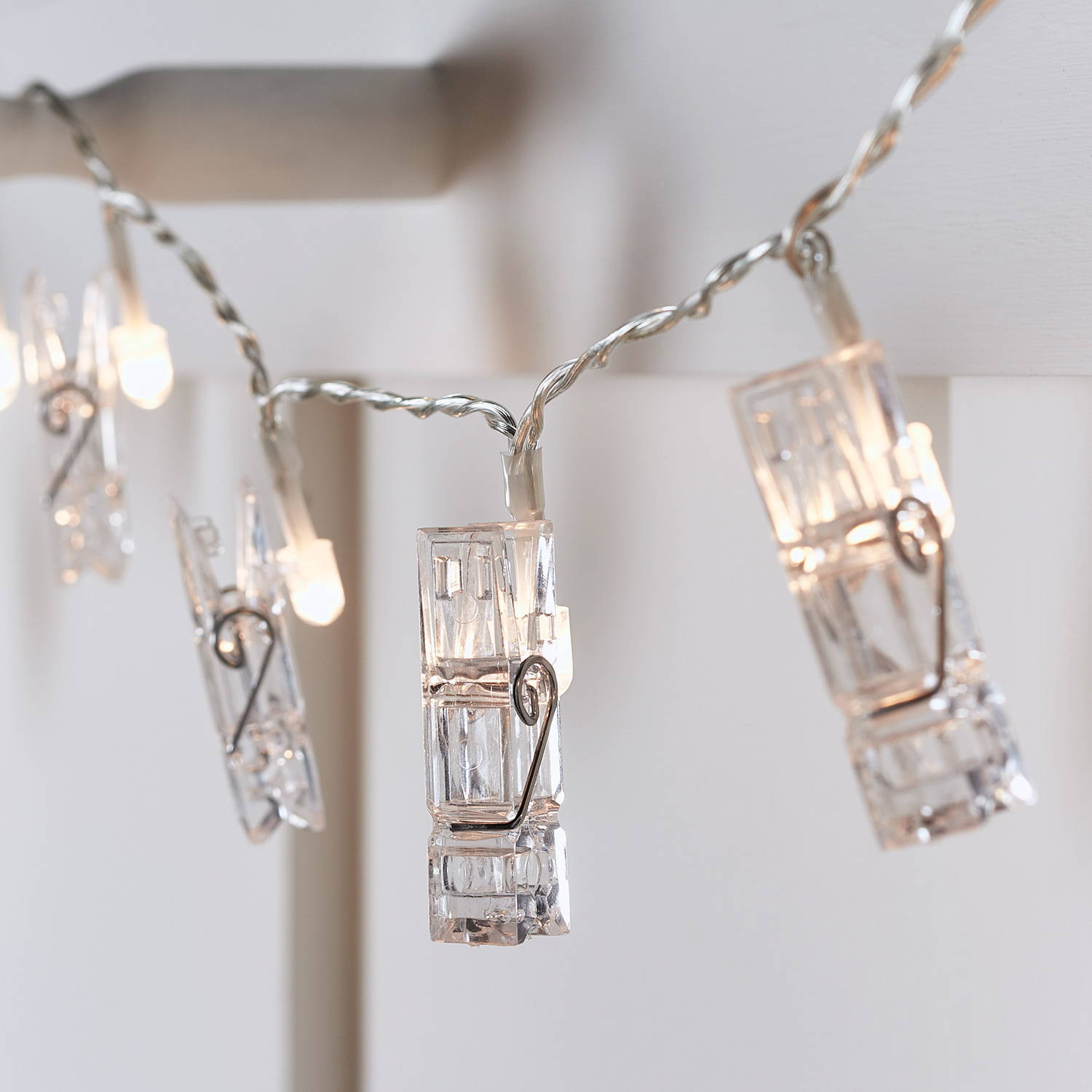 light up LED clear peg fairy lights