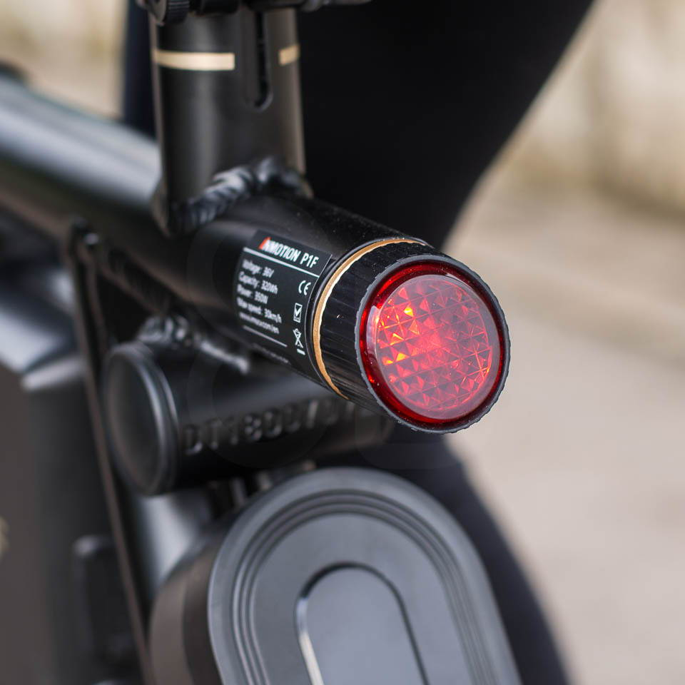 InMotion P1F hybrid scooter ebike rear light