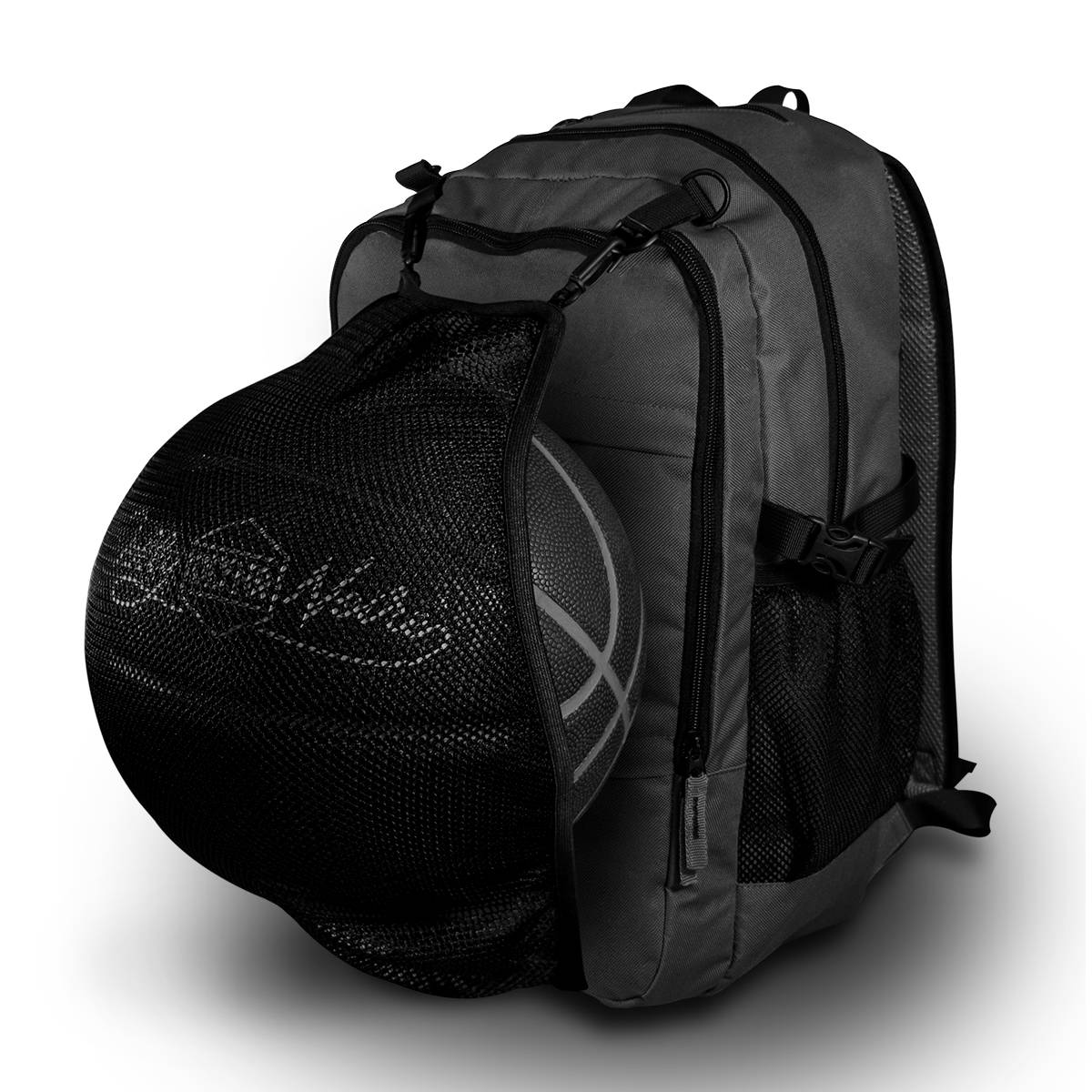 Zaino Pocket Backpack:   - Realizzato in Canvas Nylon 230D - Scomparto interno con tasca per il computer (13'') e scomparto ORGANIZER con tasche PORTA oggetti - Due tasche laterali in rete e due frontali - Logo ricamato 3D - Spallaccio ergonomico NECK Shape per il massimo del comfort - schienale comfort zone con 6 esagoni in AIR mesh - Cover Waterproof con dettaglio logo reflective - Rete porta pallone con tasca dedicata - Altezza 50 cm, Larghezza 32 cm, Profondità̀ 20 cm - CAPIENZA 30 LITRI Zaini Dolly Noire.
