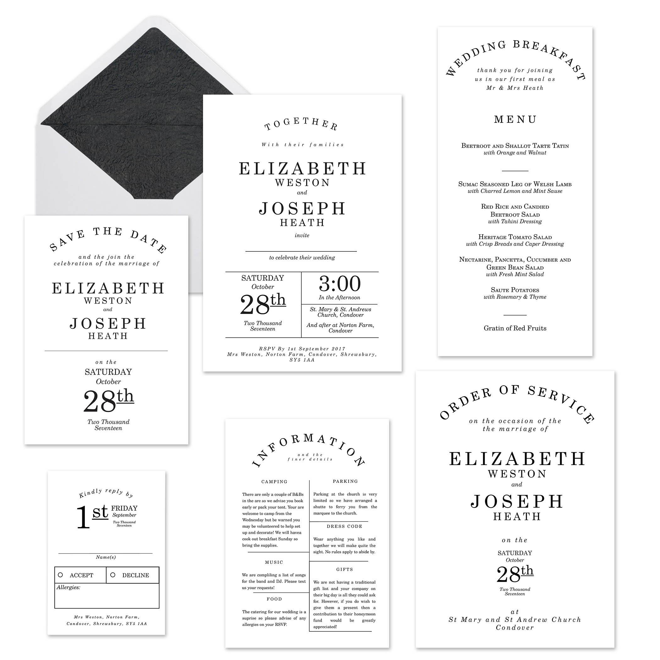 Mustard and Gray Attingham Grand chic Great Gatsby styled wedding stationery
