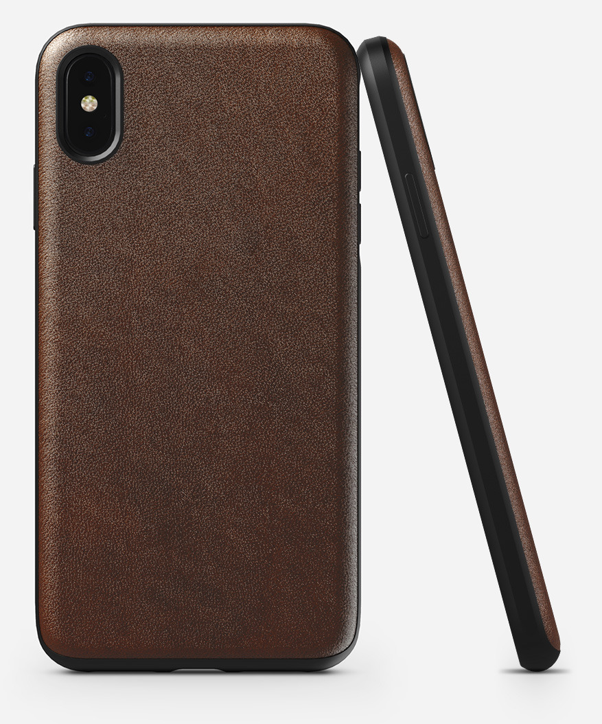 NOMAD® | Rugged Case for iPhone XS Max, Rustic Brown