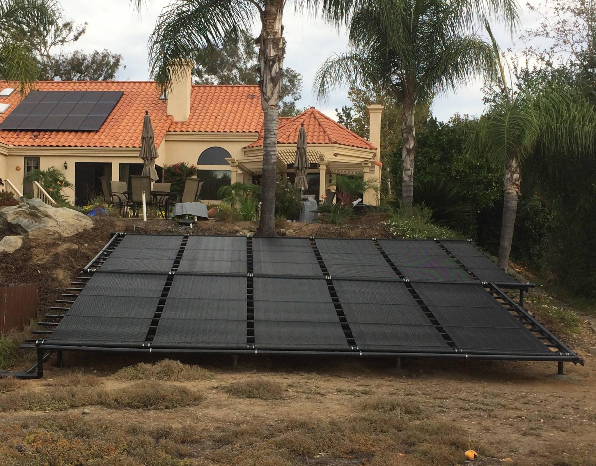 SwimEasy Ground Mounted Solar Pool Heater