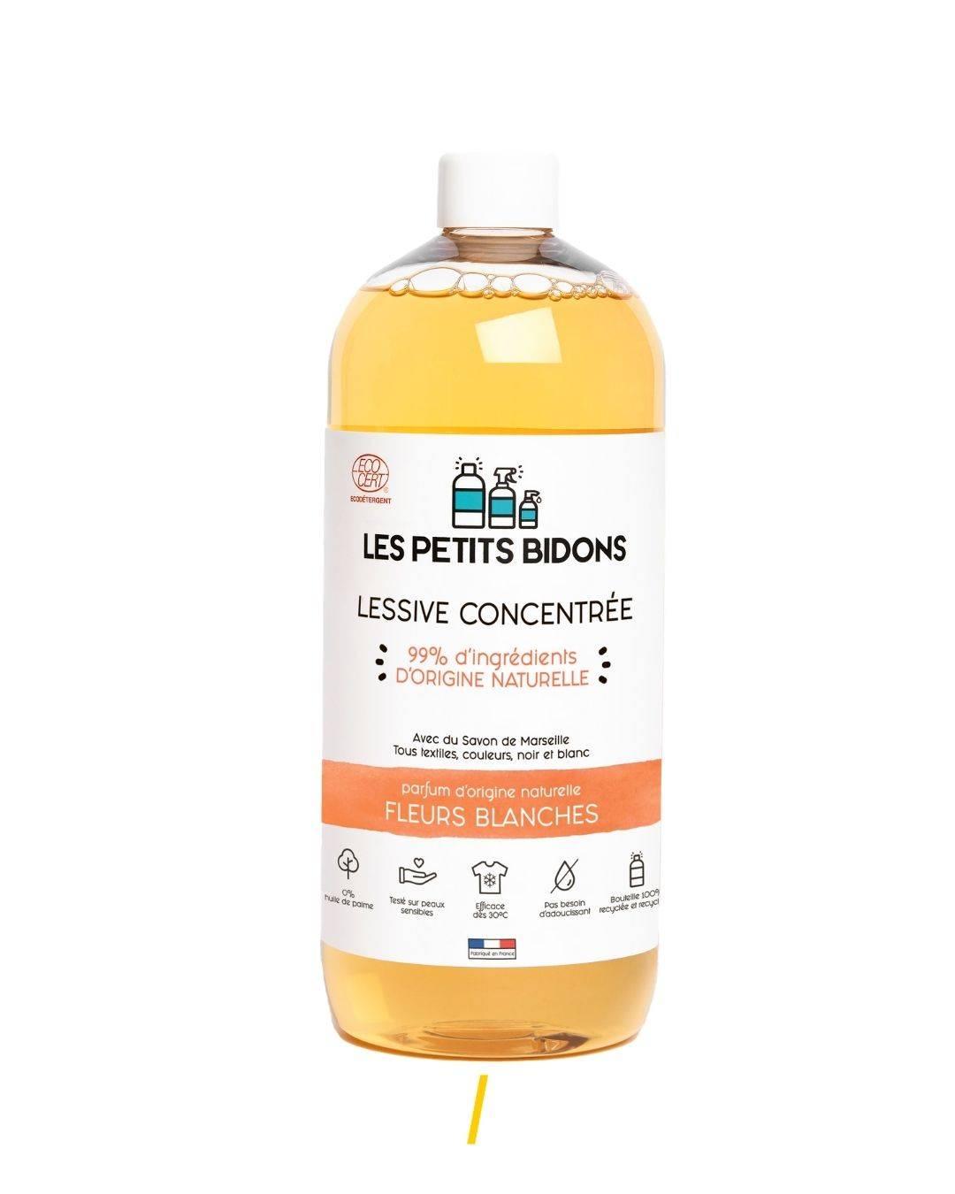 Lessive écologique Fleurs Blanches - The trust society - Les petits bidons