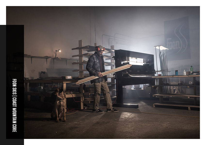 handcrafted skis built by johnny foon