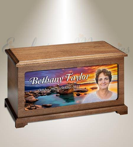 By The Sea Funeral Photo Urn