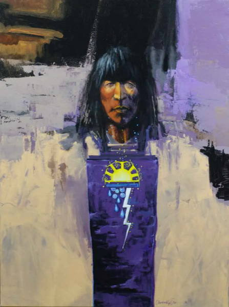 Lawrence Lee Fine Art. Original Painting. Native American Painting. Sorrel Sky Gallery. Santa Fe Art.