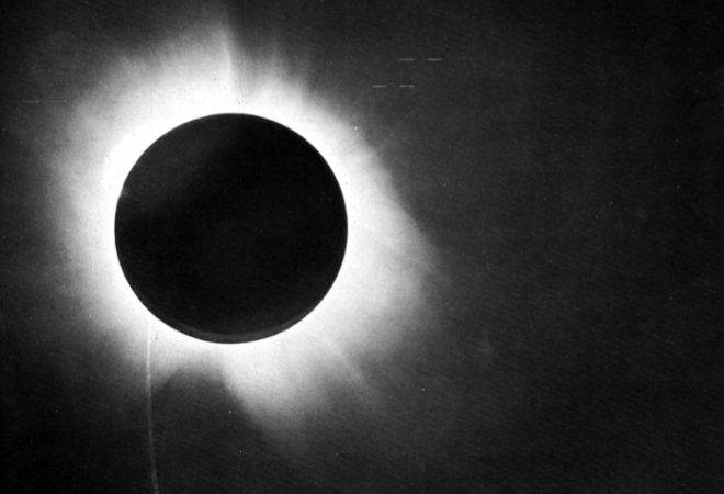 Arthur Eddington's famous photograph of stars during a solar eclipse proved that Einstein's new theory was more accurate than Newton's old one.
