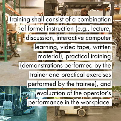 Forklift Train The Trainer Content Requirements