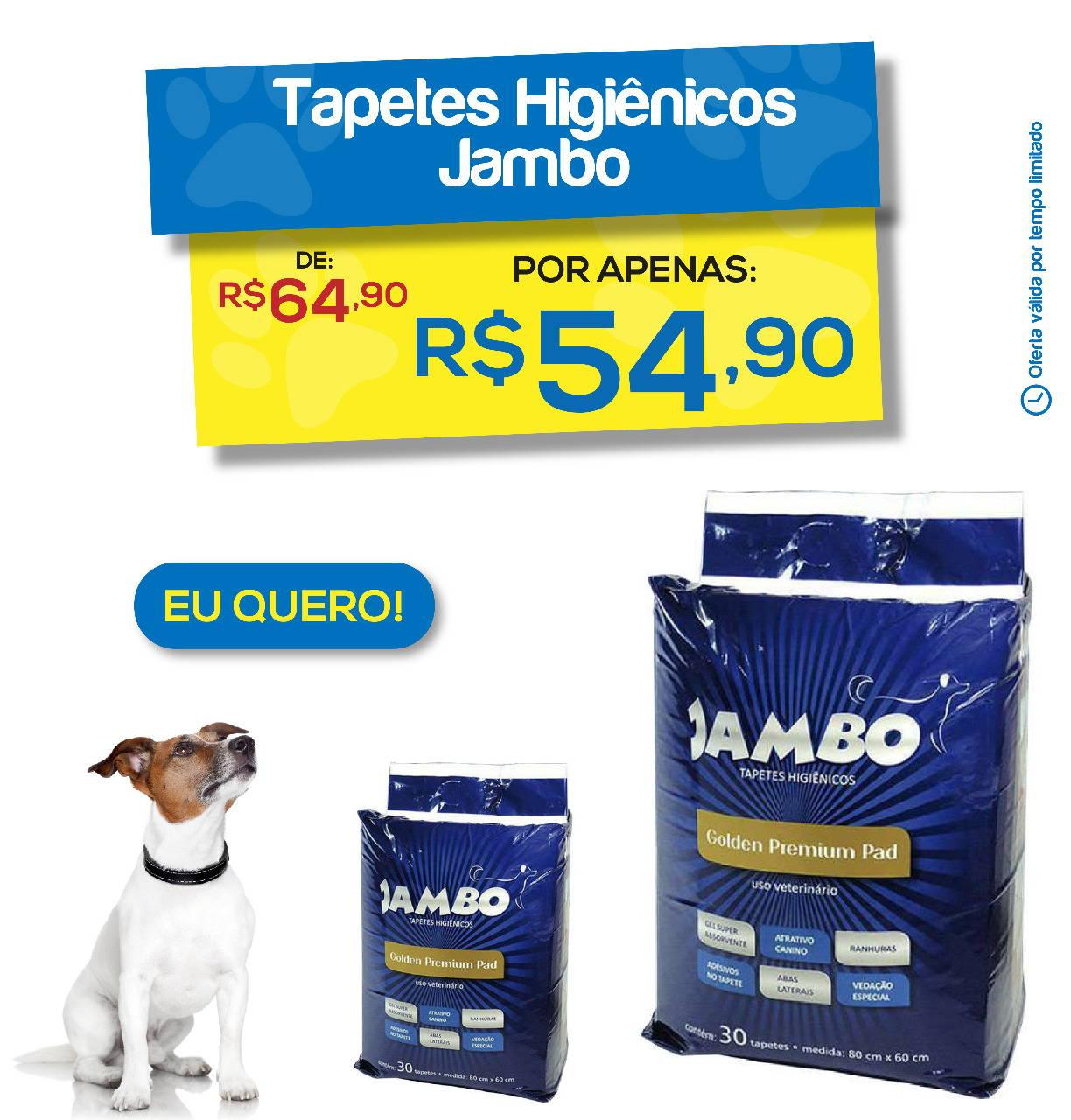 Tapete Higiênico Jambo Golden Premium