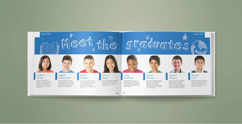 School yearbook design | Blank Sheet
