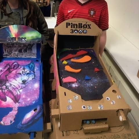 Different student designed PinBox 3000s.