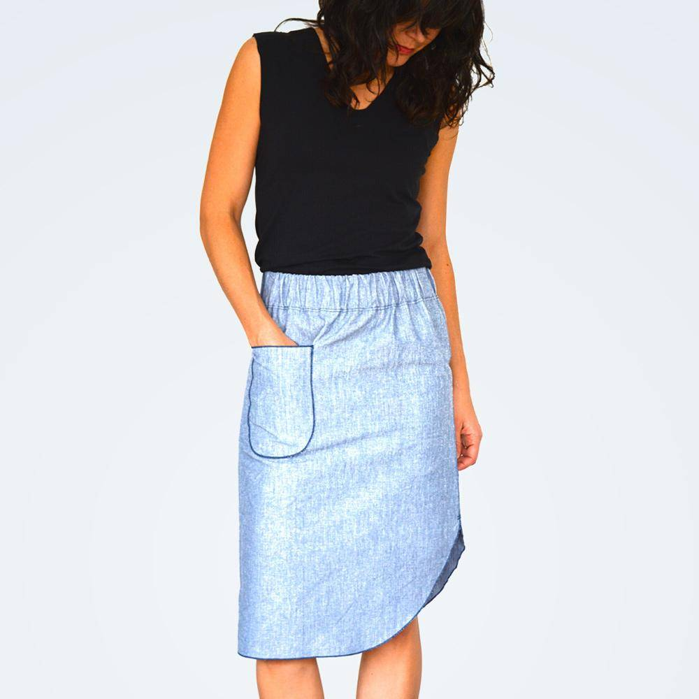 Roma Midi Skirt pattern by Half Moon Atelier