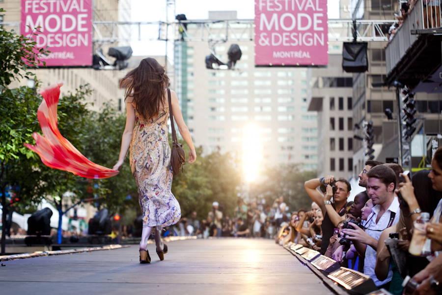 Festival Mode Et Design Montreal - Woman walking on a fashion runway
