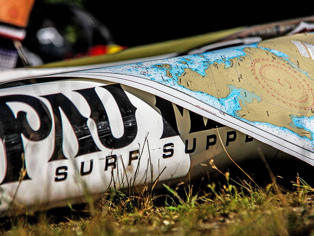 PLANNING A SUP TRIP ON A MAP