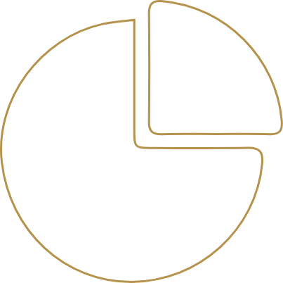 Circle in 4 sections icon