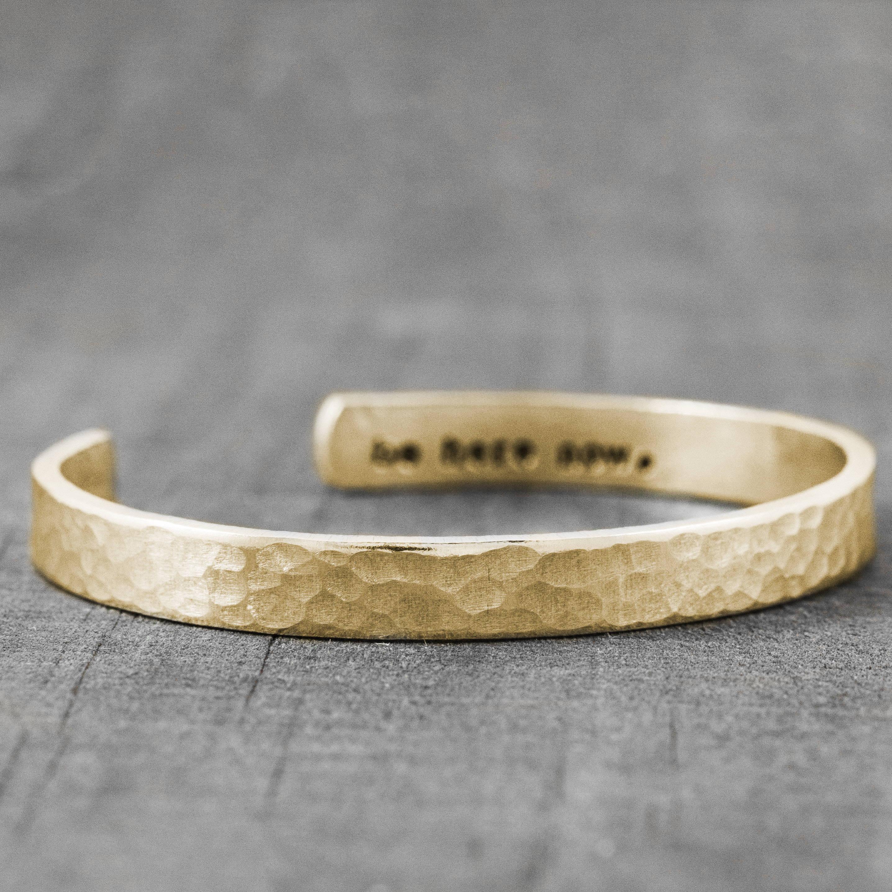 Gold Secret Message Cuff