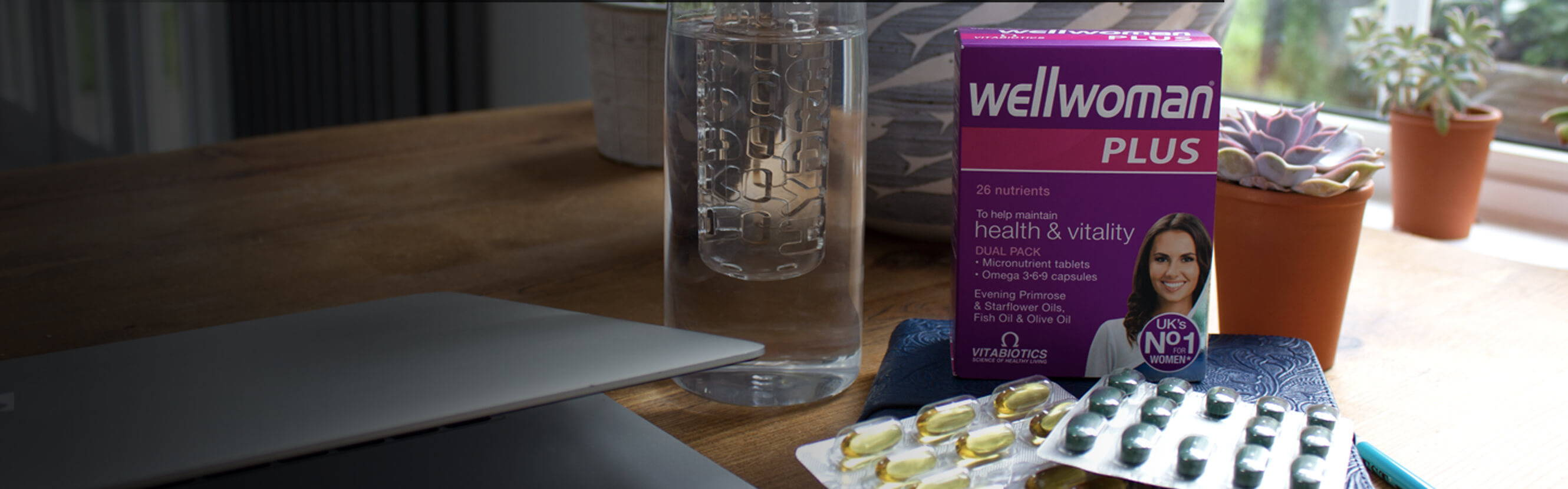 Wellwoman Plus Pack On A Desk