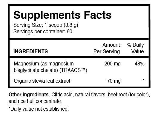TrueMagnesium label