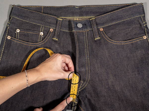 how to measure a jeans hip