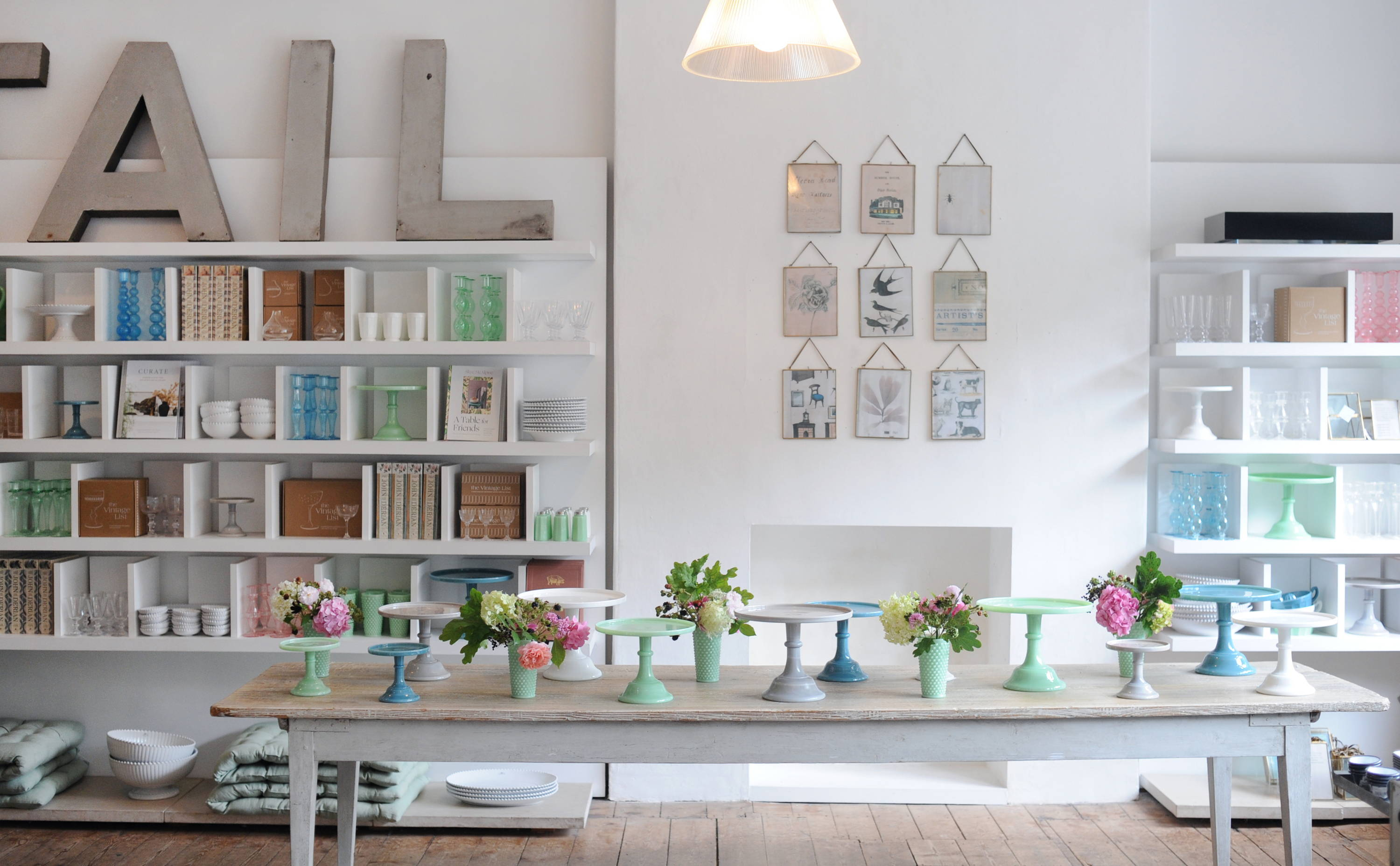 Landscape image of the Homewares department with Mosser on the main table.