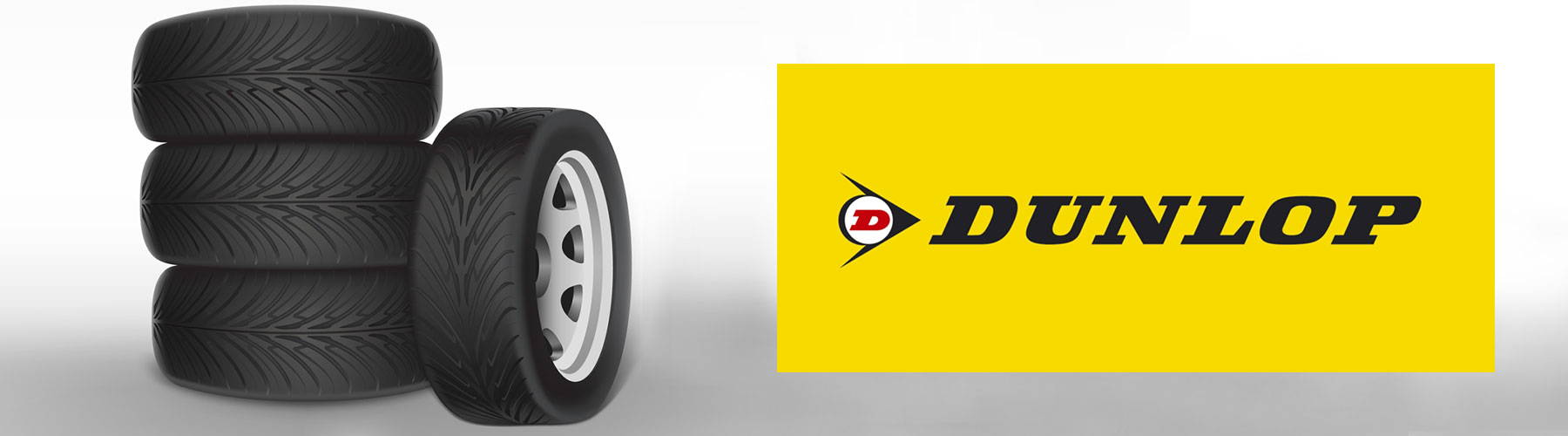 Dunlop logo with tyres image