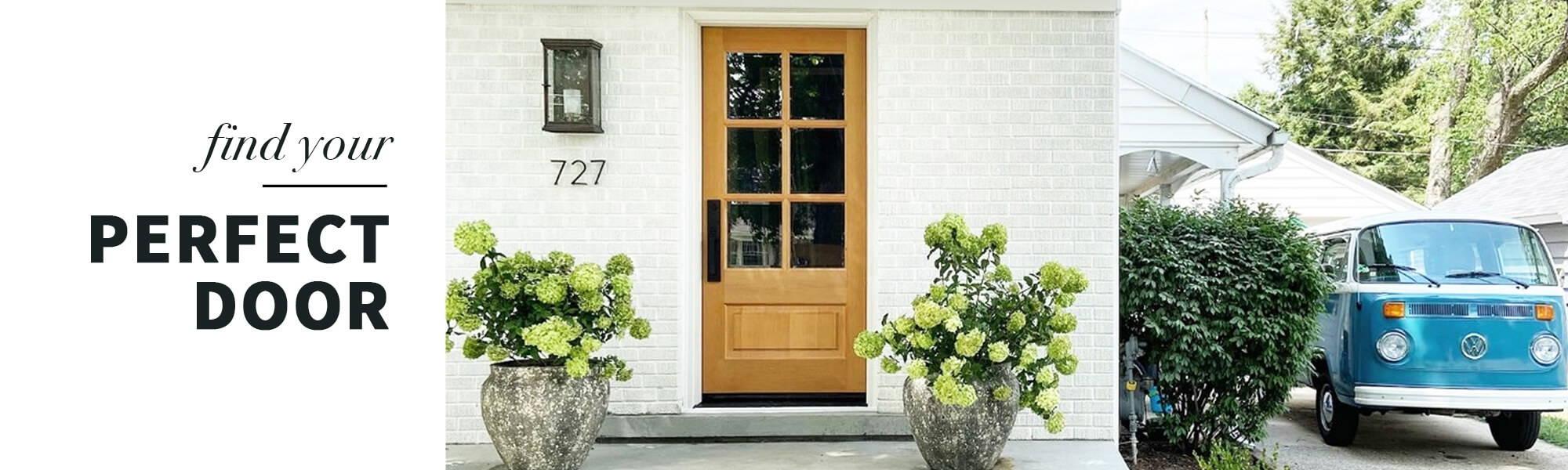 Knotty alder front exterior door