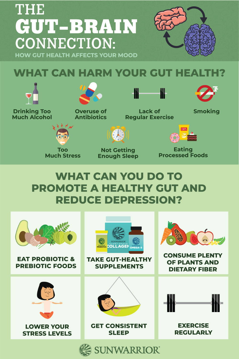 gut health connection infographic