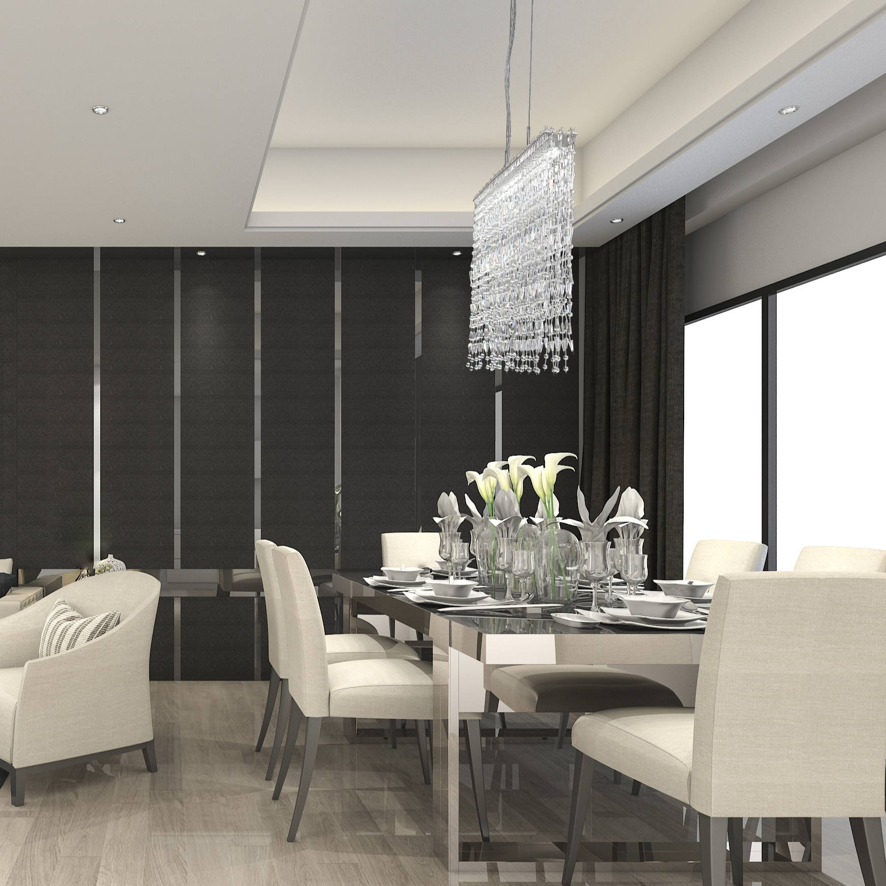 Linear suspension chandeliers for the kitchen by eurofase at brand Lighting