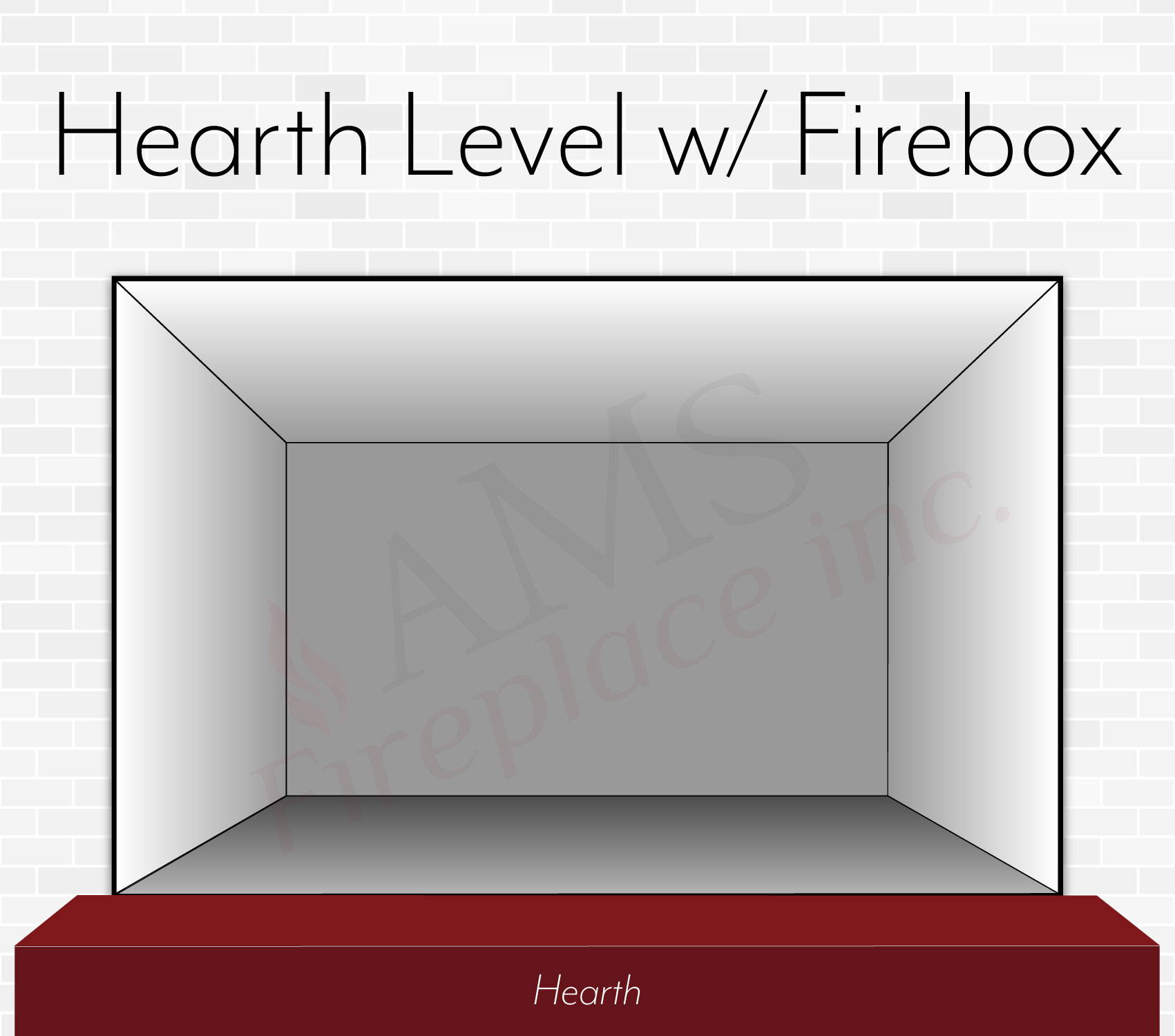 Level Hearth -  Fire Box Even