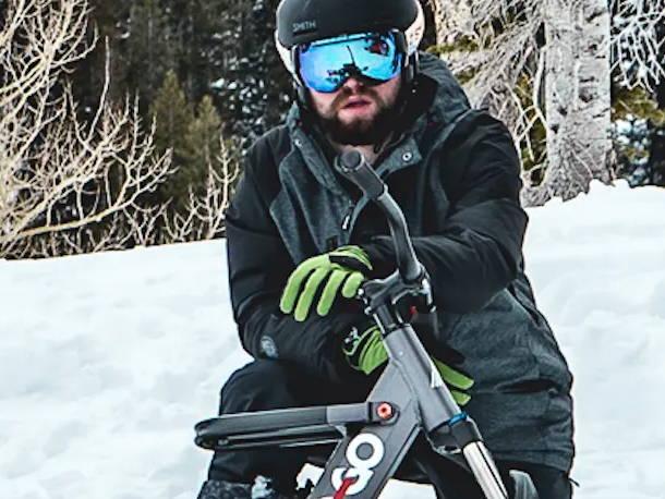 Nicholi Rogatkin - SNO-GO Ski bike Snow bike