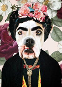 frida kahlo dog art