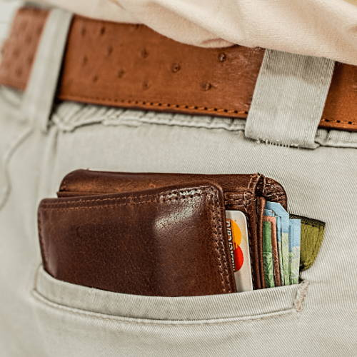 Pocket With Money and Card Savings