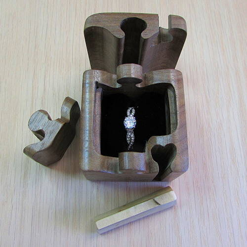 Jigsaw Puzzle Ring Box