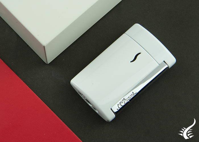 Lighter- S.T.-Dupont-Minijet,-Laquer,-White,-010506
