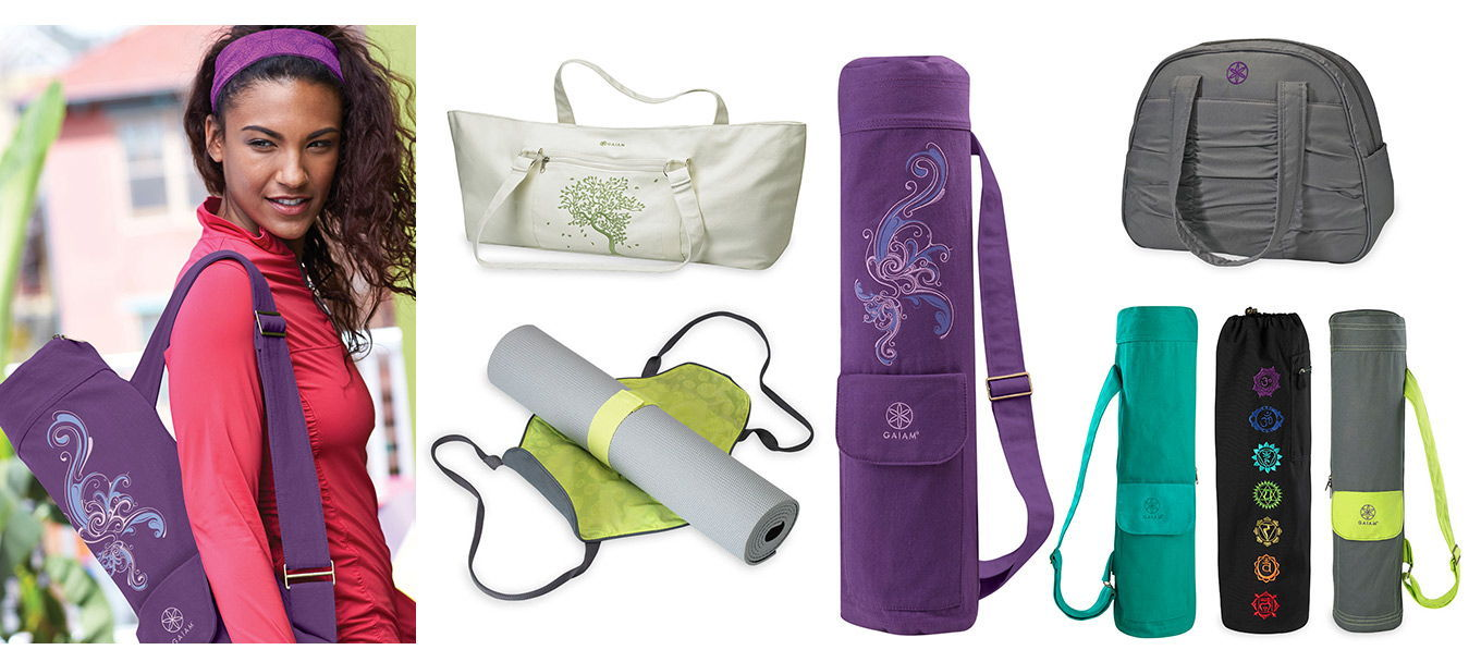 Bags for yoga mats, straps and gear