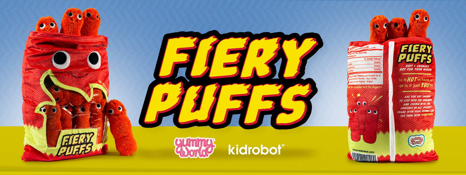 Fiery Puffs Flaming Hot Food Plush by Kidrobot